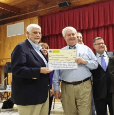 Oceanport Lions Club presents check to town