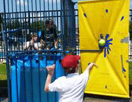 Oceanport Lions' Club Strawberry Fair WATER CHALLENGE competition in the DUNK TANK!