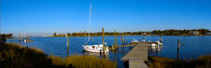 Oceanport NJ water tranquil scene.