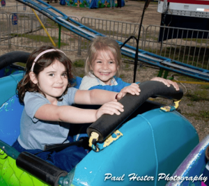 Kids on amusement ride provided by Oceanport Lions Club
