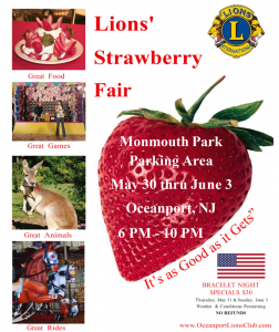 Strawberry Fair 2018 by Oceanport Lions Club.